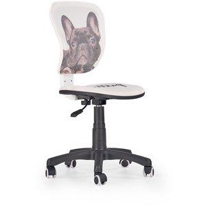 Earleen Bulldog kontorsstol för barn - Vit/svart