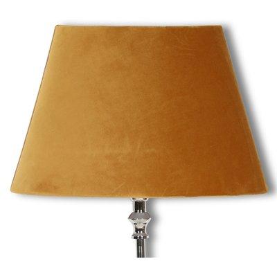 Velvet lampskärm 23 cm - Guld