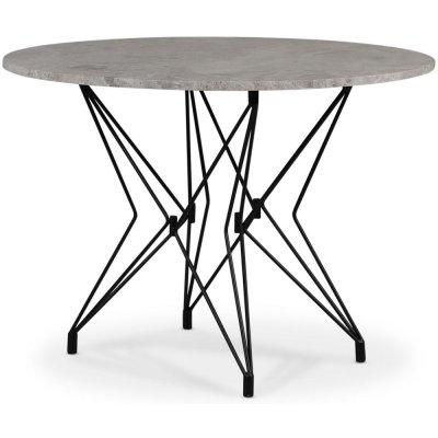 Zoo matbord Ø105 cm - Svart / Silver Marmor