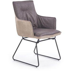 Leroi matstol - Gråbrun / Beige