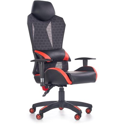 Lianne kontorsstol Deluxe - Röd/svart