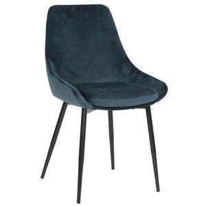Theo stol - Blå sammet