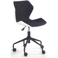 Albana skrivbordsstol - Vit/svart