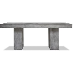 Solid matbord - Naturgrå betong