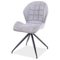 Marilyn stol - Ljusgrå/mattsvart