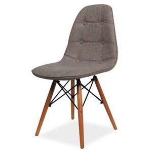 Norah stol - Grå/bok