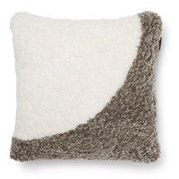 Curly kuddfodral fårskinn - Sahara/vit