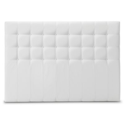 Dream 600 Sänggavel 180 cm - Vitt konstsläder