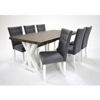 Provence matgrupp - Bord inklusive 6 st stolar - Brun / grå