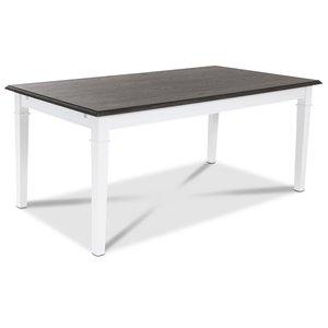 Ramnäs matbord 180 cm - Vit/Brunoljad ekfaner