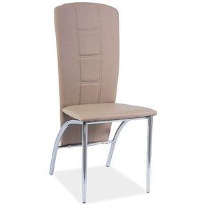 Lexie stol - Mörkbeige/krom