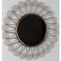 Sol spegel 71 cm - Antik mässing