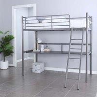 Hörby våningssäng med skrivbord - Metall/grå