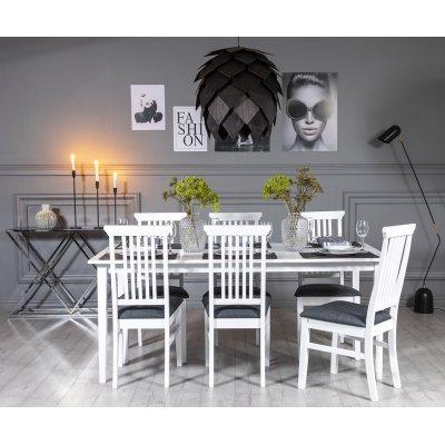 Gåsö matgrupp 180 cm inklusive 6 st Måsö stolar - Vit