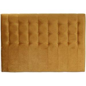 Centa sänggavel med knappar (Guld sammet) - Valfri bredd
