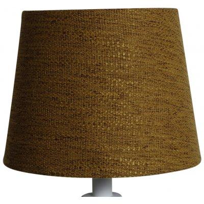 Rund lampskärm 18x23x18 cm - Guldbrun (grovt linne)