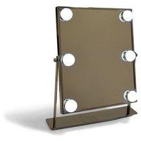 Spegel med ledlampor - Silver