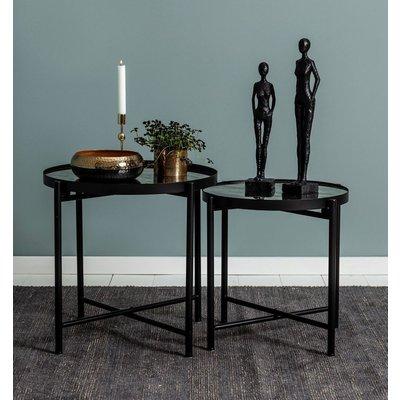 Satsbord Harper - Svart/spegel