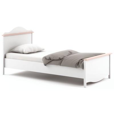 Letitia säng med förvaringslåda 100x200 cm - Vit/rosa