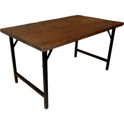 Öregrund matbord 140 cm - Återvunnet trä/metall