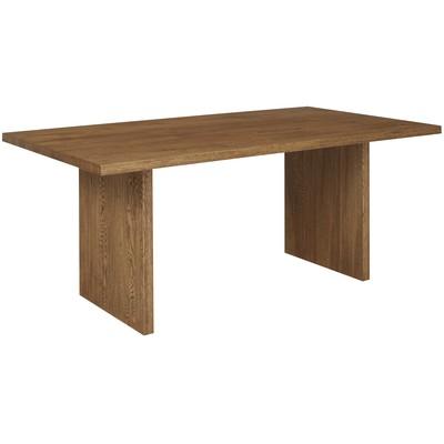 Bryssel matbord 190-290 cm (2 klaffar ingår) - Brun rustik ek