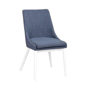 Bethan stol - Blå/vit