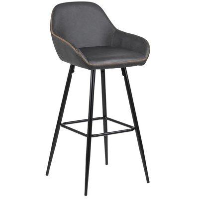 Jersey barstol - Antracitgrå (PU)