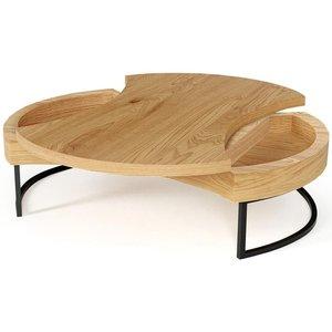 Turn soffbord - Ek/svart