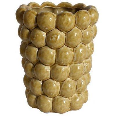 Vas Big Bouble H20 cm - Gul
