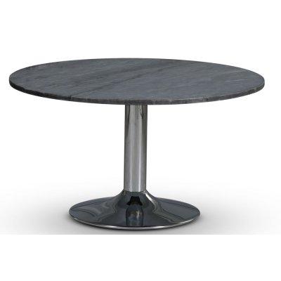Empire matbord - Grå marmor / Kromad trumpetfot