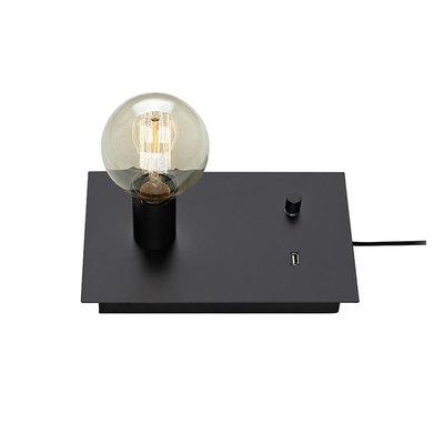 Load Bordslampa med USB - Svart