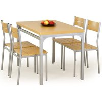 Myrsjö Matgrupp i Bok - Bord inklusive 4 st stolar