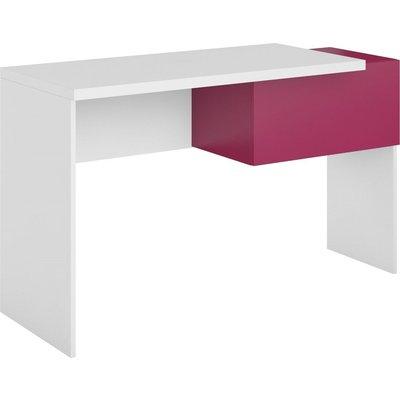 Bennett skrivbord - Fuchsia/vit