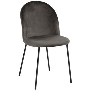 Khloe stol - Grå sammet