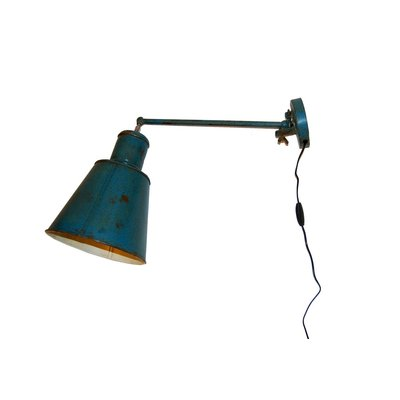 Holmestrand vägglampa - Vintage blå