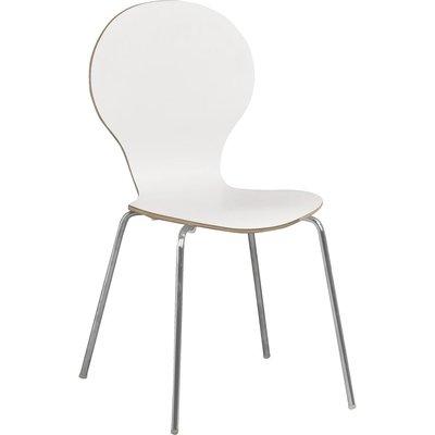 Bailey stol - Vit (HPL)/krom
