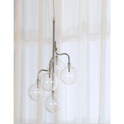 Globe taklampa - Krom / Glas