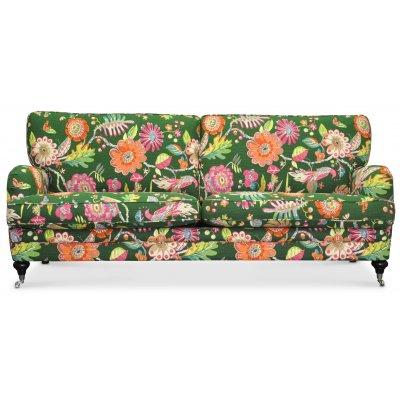 Savoy 3-sits soffa med blommigt tyg - Havanna Grön