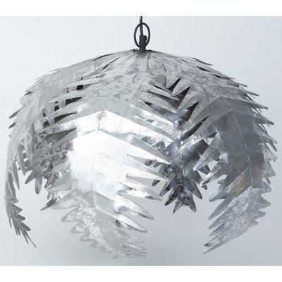 Palmblad taklampa - Silver