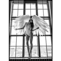 ANGEL WOMAN IN WINDOW - Poster 50x70 cm