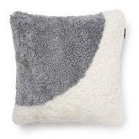 Curly kuddfodral fårskinn - Vit/silvergrå