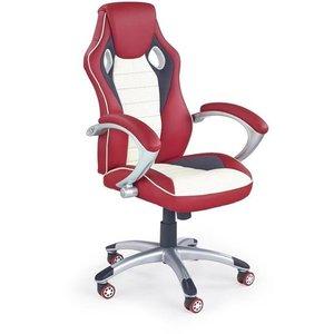 Akberet kontorsstol - Röd/krämvit