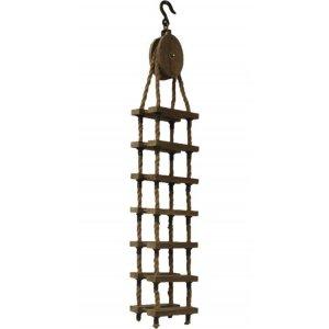 Vägghängd Marin hylla - Vintage trä