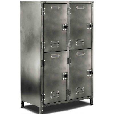 Oknö skåp 4 dörrar - Antik metall