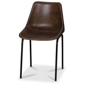 Sundbyberg stol - Metall/läder