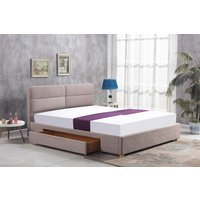 Thore säng med förvaring 160x200 cm - Beige (Chenille)