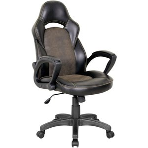 Sullivan skrivbordsstol - Svart/brun