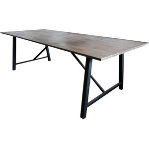 Matbord Bohuslän 250 cm - Svart / Mörk Teak
