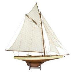 Old Sailor Modellbåt Columbia II segelbåt - Mahogny