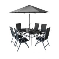 Matgrupp Shadow - 6 stolar och parasol